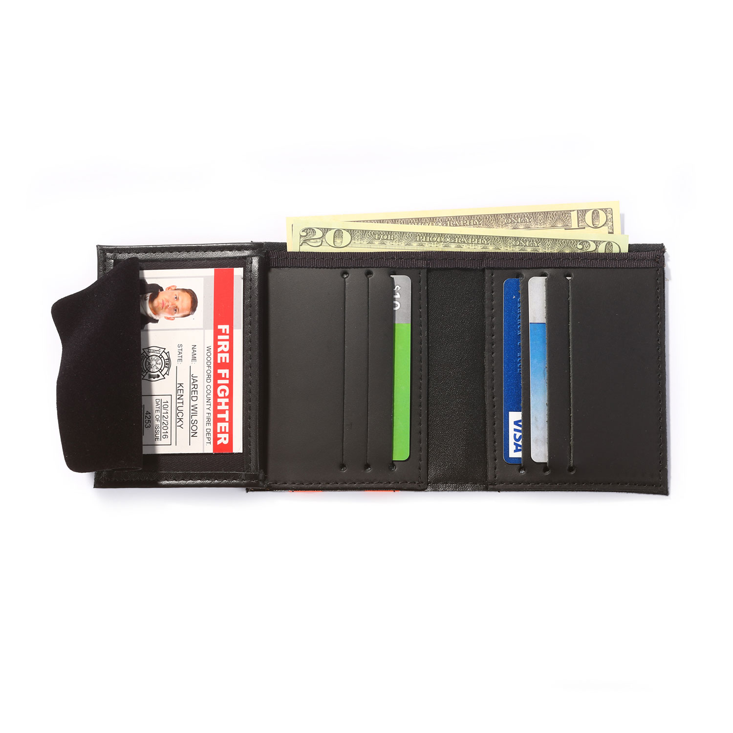 Perfect Fit Firefighter Recessed Badge Wallet