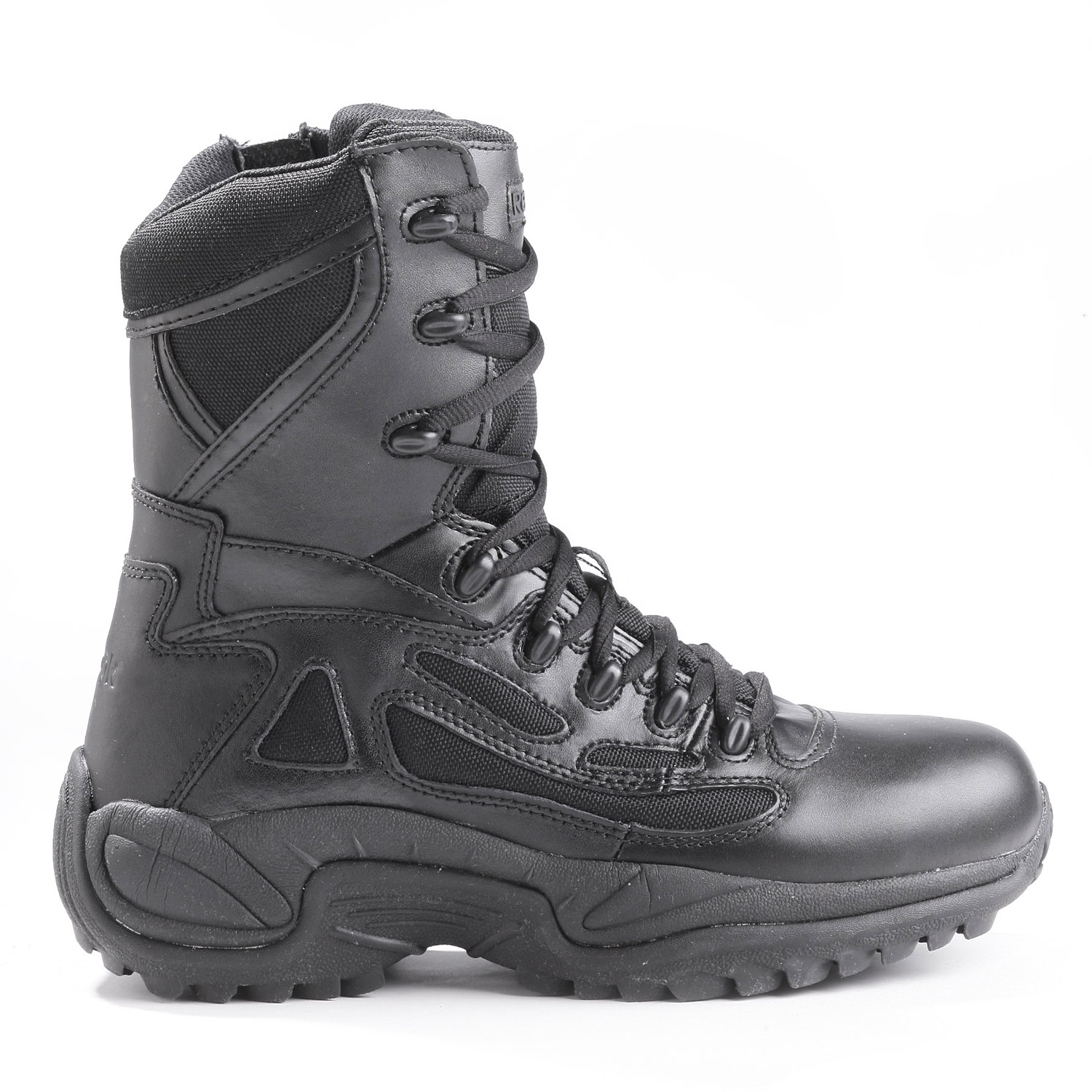 Reebok Womens 8 Rapid Response Side Zip Composite Toe Boot
