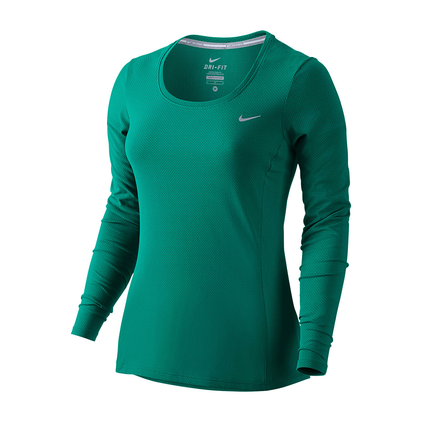 Nike womens dri fit long sleeve running shirt for Women s running shirts