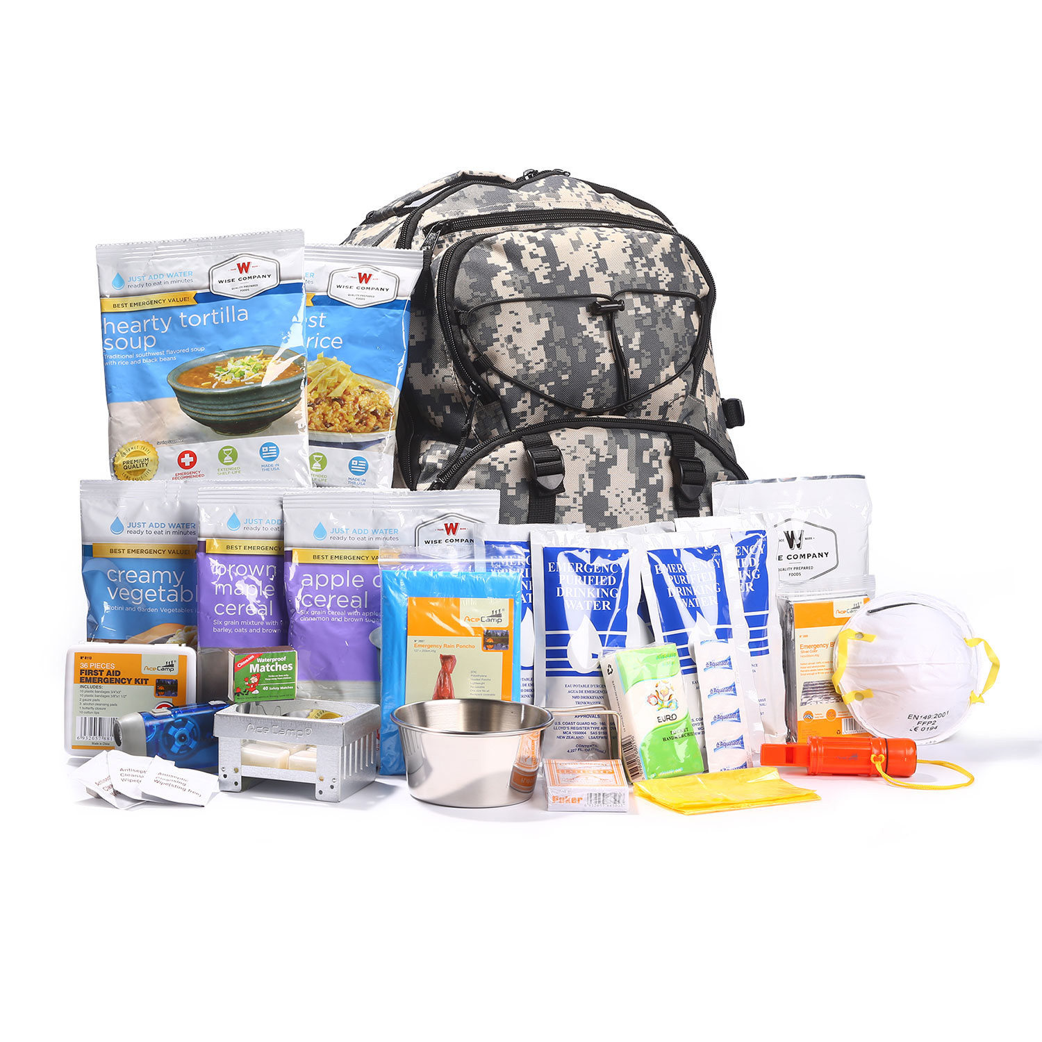 3f6b5700bc5c Wise Company 5 Day Survival Backpack.