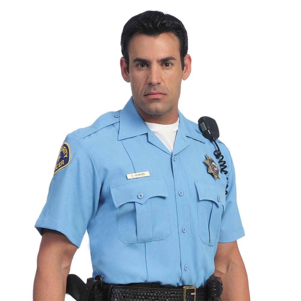 Police Security Uniform Shirt Navy Blue Large Men's Short ... |Police Blue Uniform